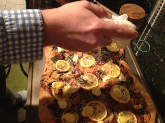 Parm that pizza, boyfriend!