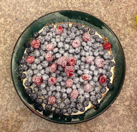 Red, White & Blueberry Tart!