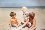 The three of us at Hilton Head Island, just about 26 years ago.  <3